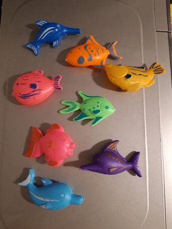 Kolorowe rybki, zabawka do kąpieli