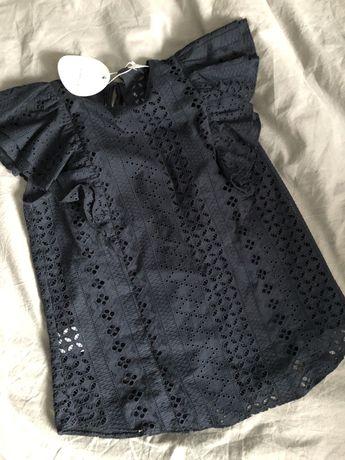 Laurella Benita bluzka ażurowa granat