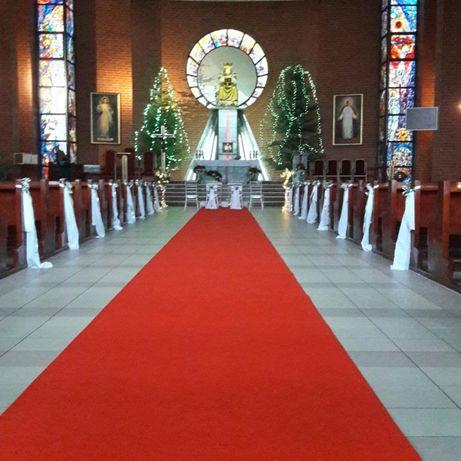 Gruby Dywan Czerwony (Szer. 1,5m i 1m) Dekoracja Kościoła Sali na Ślub