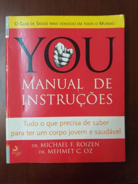 """Livro """"You - manual de instruções"""" de Mehmet C. Oz e Michael F. Roizen"""