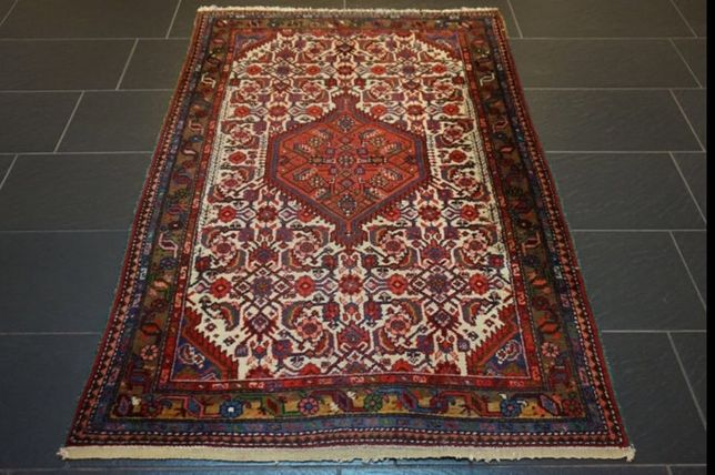 Lindo tapete Persa, de Hamadan, 170x110cm, final Séc XX. Certificado