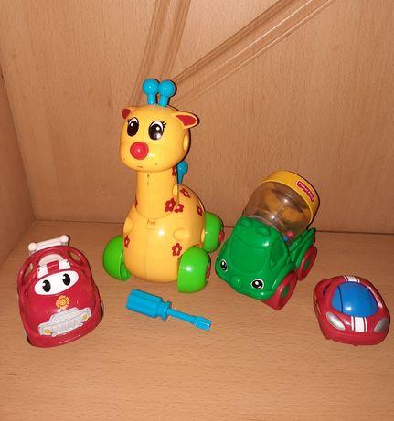 Машинки для малышей погремушки Fisher price Oball от 6 месяцев