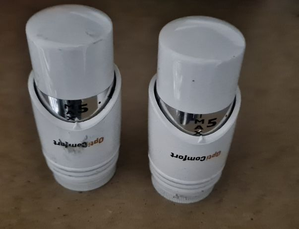 Głowice, kaloryfer, opticomfort regulacja ciepla