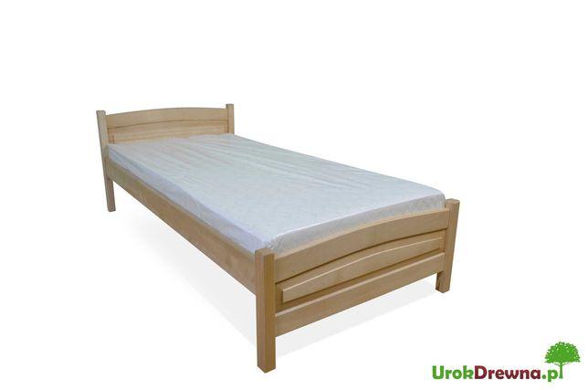 MOCNE łóżko jednoosobowe z drewna BUKOWEGO 90x200, szybka wysyłka