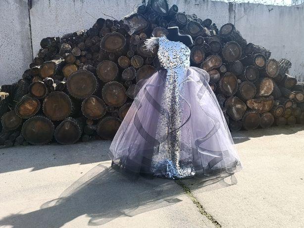 Новинка 2021 Нарядное платье на выпускной на праздник пайетка пышное