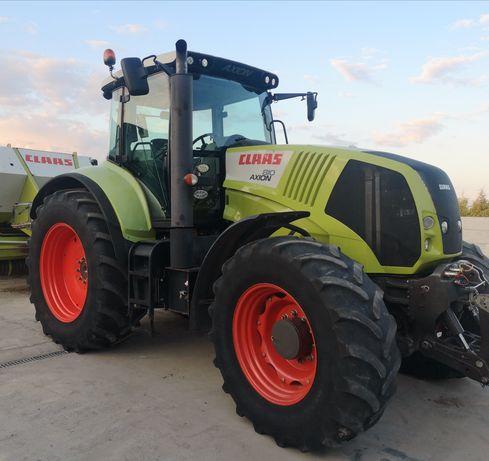Wynajem ciągnika rolniczego Claas Axion 810 Usługi rolnicze