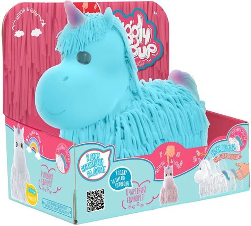 Інтерактивна іграшка Jiggly Pup Чарівний єдиноріг (блакитний)