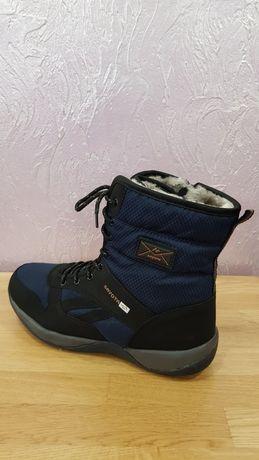Мужские зимние сапоги дутики ботинки кроссовки тёплые