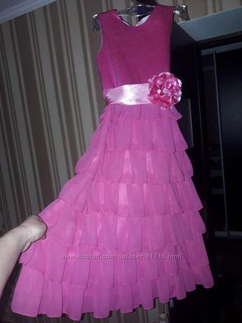 Платье нарядное длинное