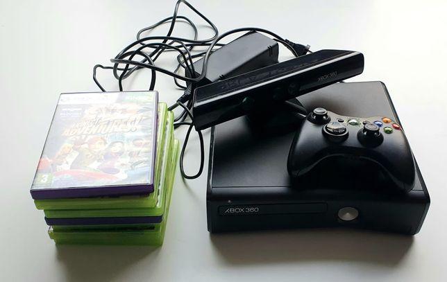 Konsola Xbox 360 Pad Kinect + 7 gier