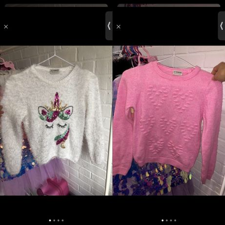 Кофта свитер свитшот розовая с единорогом на девочку lc waikiki