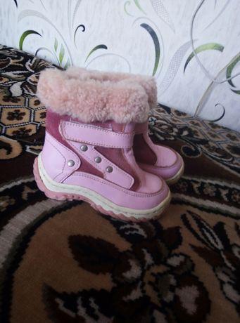 Сапожки теплые для девочек