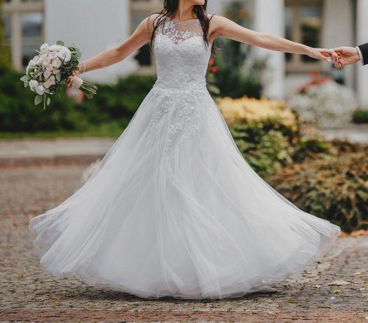 Koronkowa suknia ślubna rozmiar 36 / S