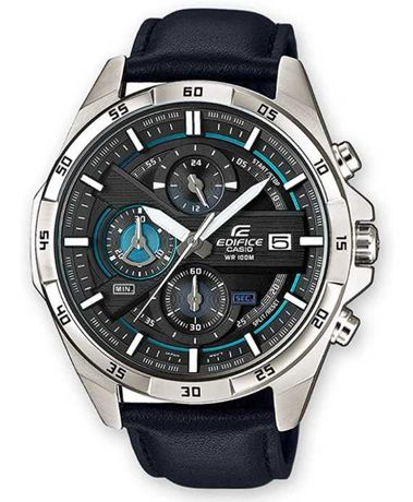 Relógio de homem Casio Edifice com bracelete em couro NOVO