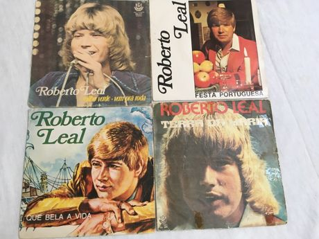 Roberto Leal - Lote 4 singles vinil