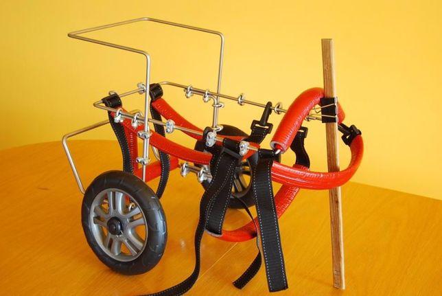 Wózek dla średniego psa rehabilitacyjno - inwalidzki
