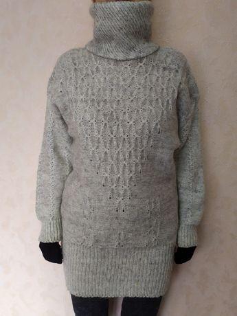 Женский свитер шерстяной, р. 48-50, винтаж, времен СССР оверсайз
