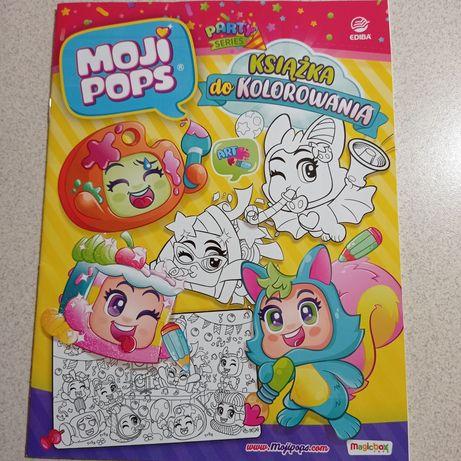 NOWA Książka A4 cała do kolorowania Moji Pops, dużo stron do rysowania