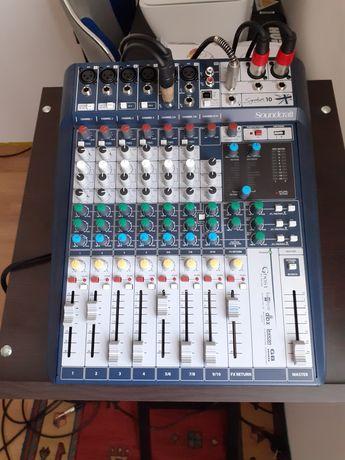 Mikser soundcraft signature 10 + case+statyw pod mikser
