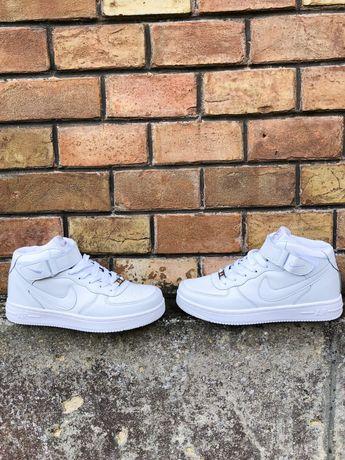 Найк Аир Форс высокие белые чёрные женские, Nike Air Force 1 High