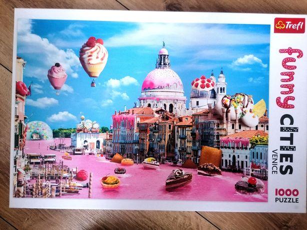 Puzzle Funny Cities Venice Wenecja 1000 elementów Trefl