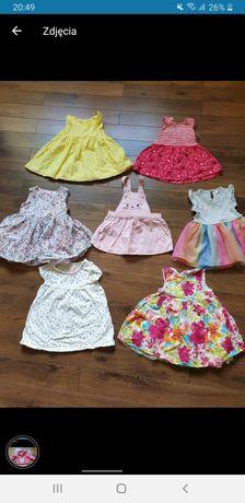 Sukieneczki w rozmiarze 68/74