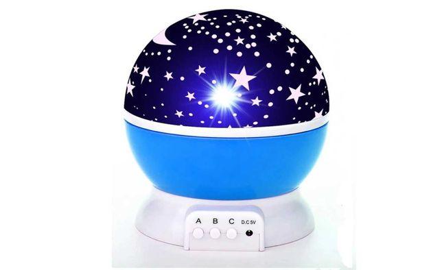 PROJEKTOR Gwiazd LED LAMPKA Nocna usb na baterie