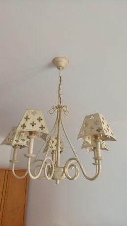 Conjunto de candeeiros de tecto e de mesa (3)