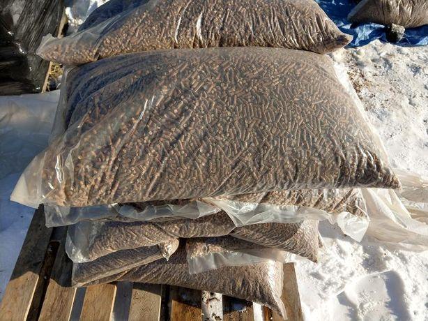 Lubin Nasz transport Workowany pellet 990kg bukowo-dębowy Pelet Okazja