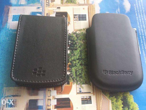 Capas, Bolsas pele originais para Blackberry novoas a estrear