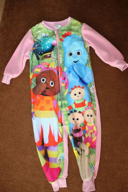 Ромпер комбинезон на девочку пижама 1-2 года человечек