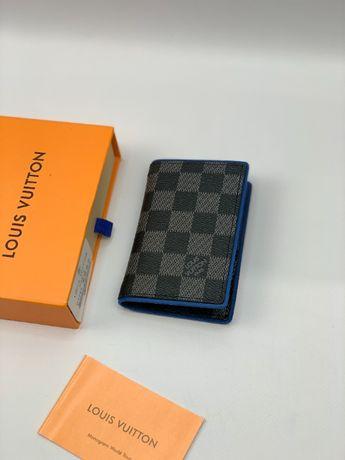 Мужской кожаный кошелек бумажник визитница LV Louis Vuitton k293