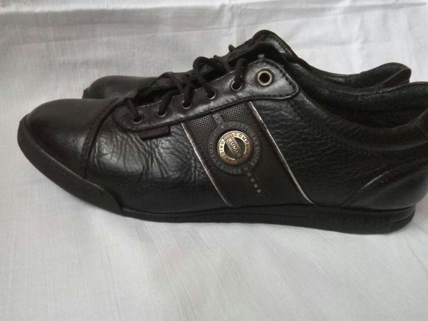 Ботинки мокасины кеды, кожа, стелька 28 см