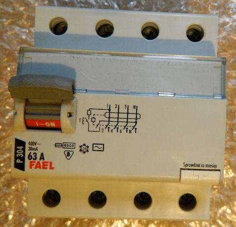 fael wyłącznik różnicowoprądowy 63A 3fazy 4p30ma