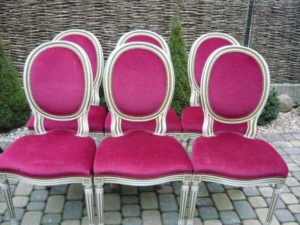 6 krzesła medaliony
