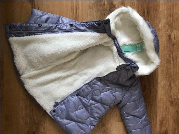NOWA zimowa kurtka/płaszczyk rozm.98 dla dziewczynki