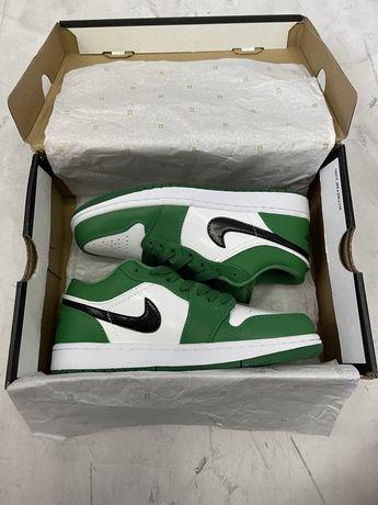 Кроссовки Найк Nike Air Jordan 1 Low Pine Gree (Оригинал,новые)