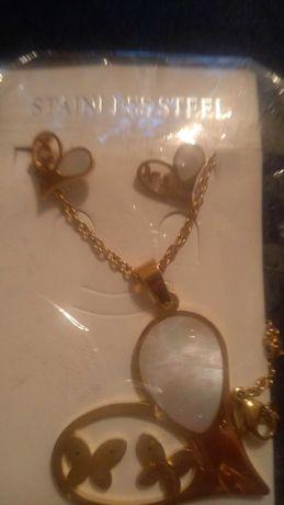 Komplet biżuterii stal nierdzewna