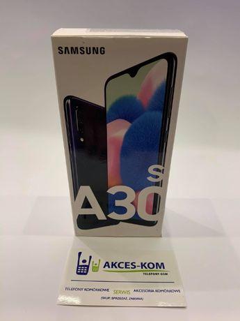 AKCES-KOM Nowy Samsung A30s A307FN 64/4 LTE Black zaplombowany