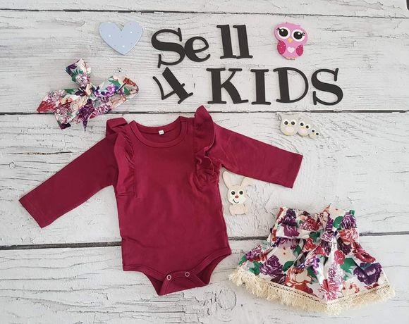PIĘKNE zestawy SELL4KIDS komplet dla dziewczynki niemowlęce 68 74 80
