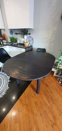 Stół okrągły rozkładany lata 50-te
