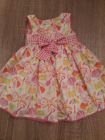 Очень красивое хлопковое платье на девочку 3-6 месяцев на лето