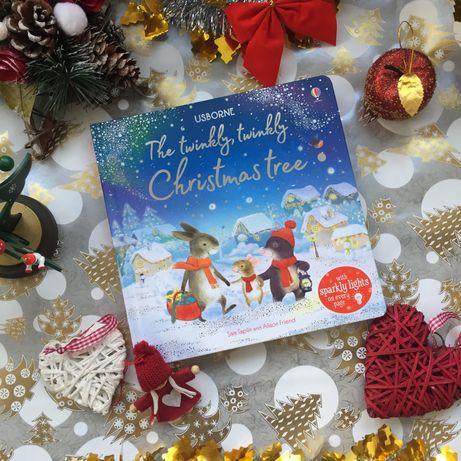 Новая книга с огоньками Usborne The twinkly, twinkly christmas tree