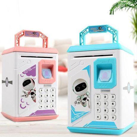 Детская копилка Банкомат робот копилка электронная сейф SUNROZ Robot