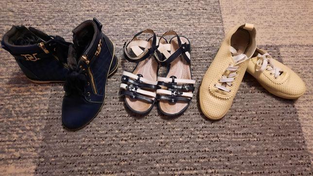 Комплект обуви 36р балетки кеды босоножки