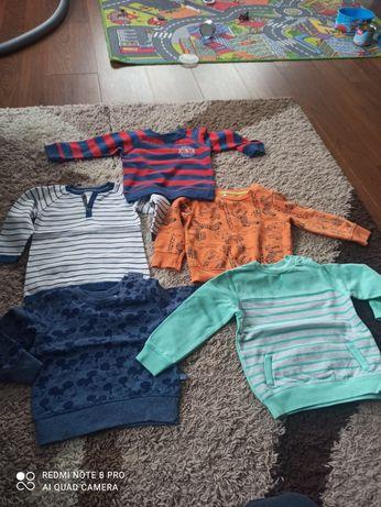 Bluzy chłopięce  i sweterek w paski