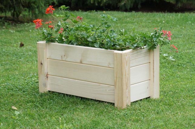 Doniczka ogrodowa, doniczki drewniane, donica drewniana na taras