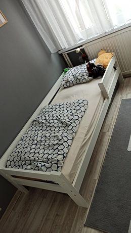 Łóżko dziecięce białe z szuflada 80x180 materac nowy