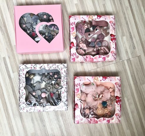 Резинки заколки набор 18шт. для девочки принцессы подарок украшения