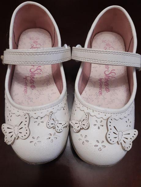 Buciki białe baletki 28